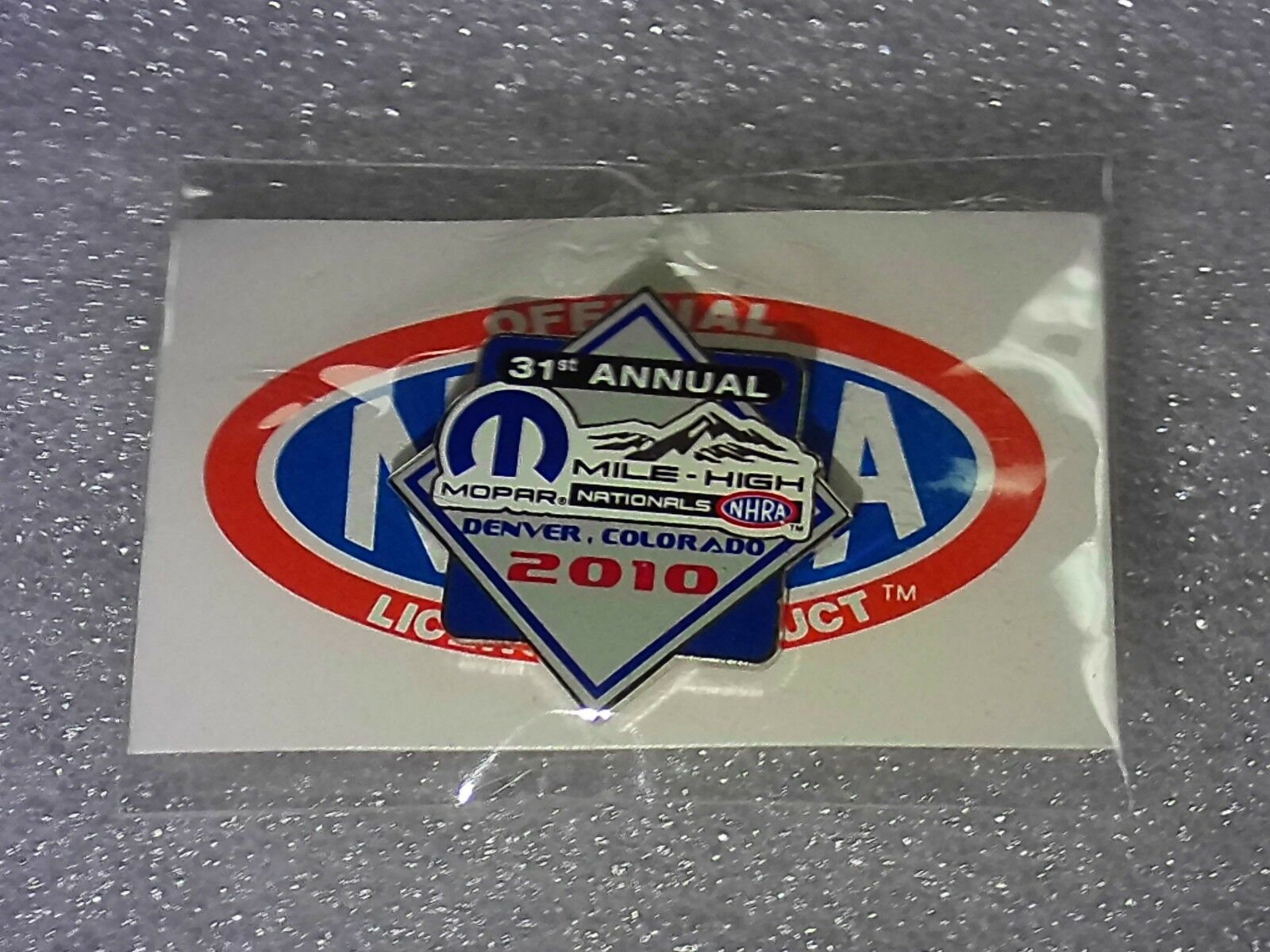 NHRA Collectible Hat Pin 2010 31st Annual Mile High Nationals Denver CO Mopar