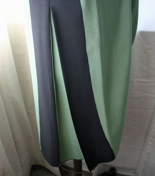 Vintage MICHAELE VOLLBRACHT High Waist Silk Skirt… - image 3