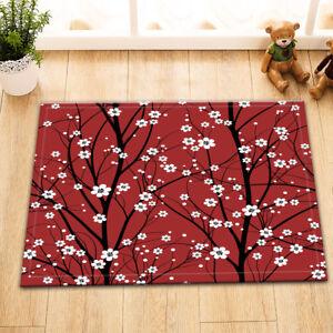 "Flame Skeleton Horse Red Bathroom Mat Rug Non-Slip Home Decor Door Carpet 24x16/"""