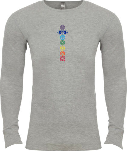 Yoga Clothing For You Colored Chakras Long Sleeve Thermal Yoga Tee Shirt