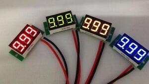 Mini-0-36-034-DC-Digital-Voltmeter-Panel-Mount-LED-Voltage-Volt-meter-Red-2-50-30V