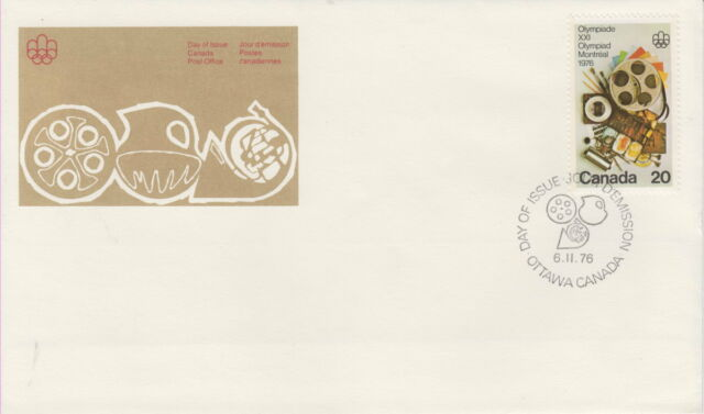 CANADA #684 20¢ OLYMPIC ARTS AND CULTURE FIRST DAY COVER