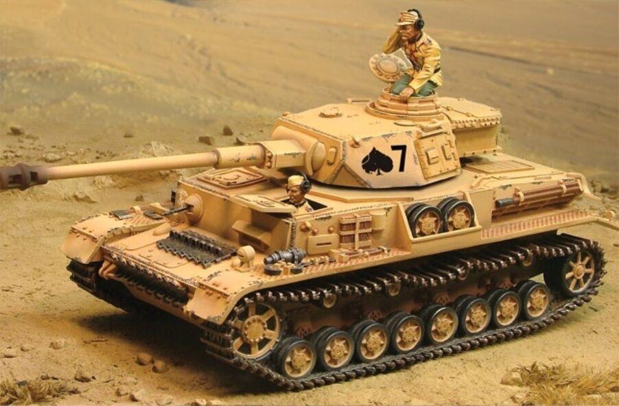 Sammler Schaufenster Afrika Korps Panzer IV Tank Set mit Reiter & Jumpers MIB