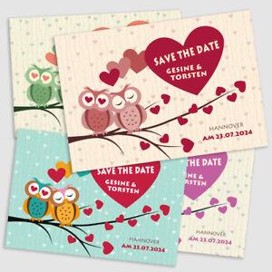 20-Stk-Save-the-Date-Karten-personalisiert-Bild-auf-Rueckseite-034-Eulenpaar-034
