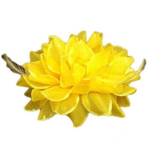 Formal//Races//mariage tissu soyeux cheveux fleur pin//Corsage//cravate//Clip//Broche
