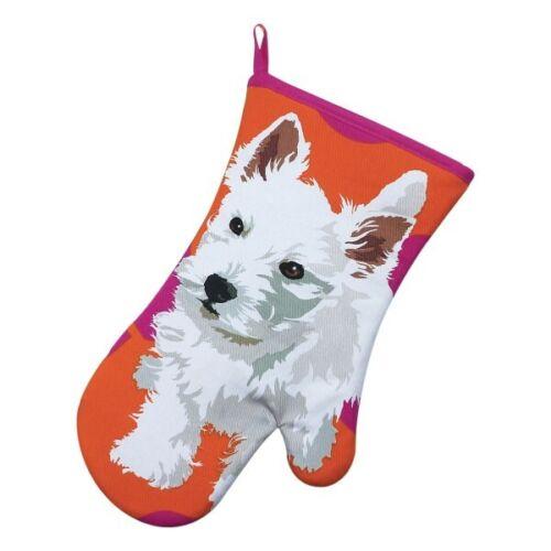 Oven Gauntlet Apron Double Oven Glove Tea Towel Leslie Gerry Westie Terrier