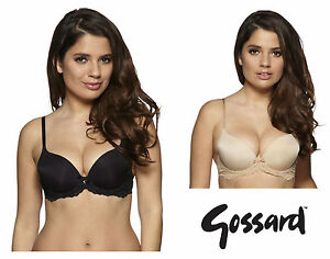 d9b7f2b45ffdf Gossard Superboost Lace Padded T-Shirt Bra 7705 Black or Nude   New ...
