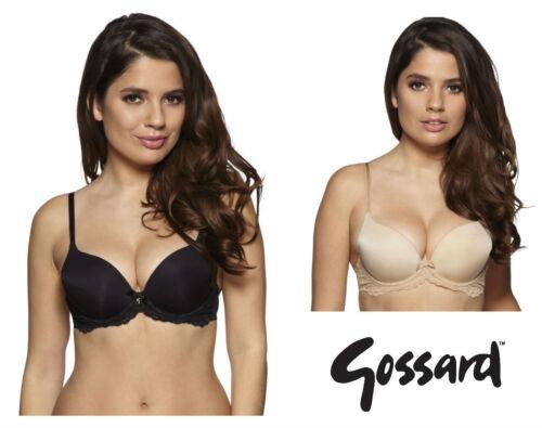 Gossard superboost dentelle rembourré t-shirt soutien-gorge 7705 noir ou chair nouvelle lingerie