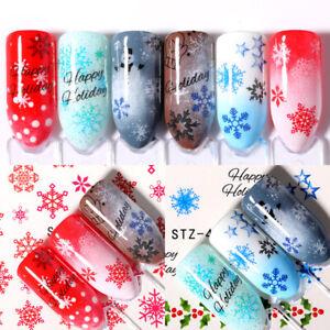 Nail-Art-3D-Nail-Sticker-Snow-Series-Nail-Decals-Fairy-Tales-Transfer-Sticker