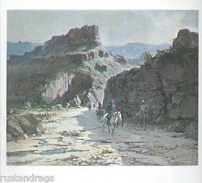"Olef Wieghorst ,  ""Native Trails"", Western -- Art Print"