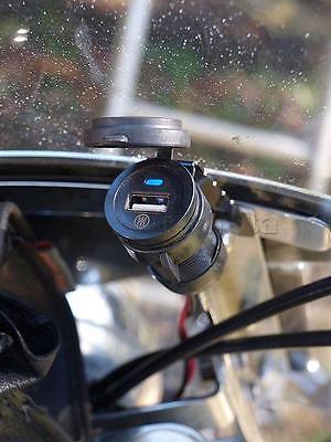 Motorcycle USB Phone Charger for Honda Shadow Aero Phantom VLX 600 750 1100