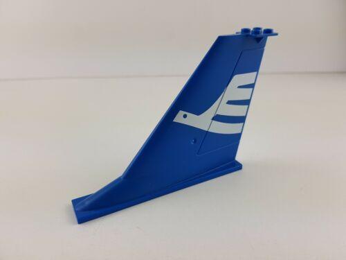 Lego® City Flugzeug Heckflücgel Flügel Flosse blau 14x2x8 54094pb01