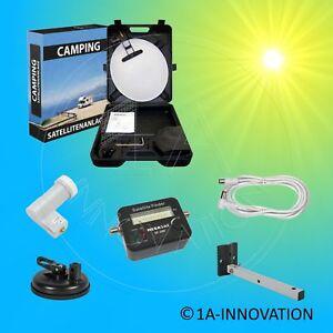 Solarenergie Mobiler Satkoffer Camping Satanlage Lnb Anschlusskabel Satfinder Für Solaranlage Photovoltaik-hausanlagen