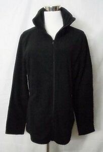 Old-Navy-Fleece-Jacket-Zipper-Front-Long-Sleeve-Black-size-Large