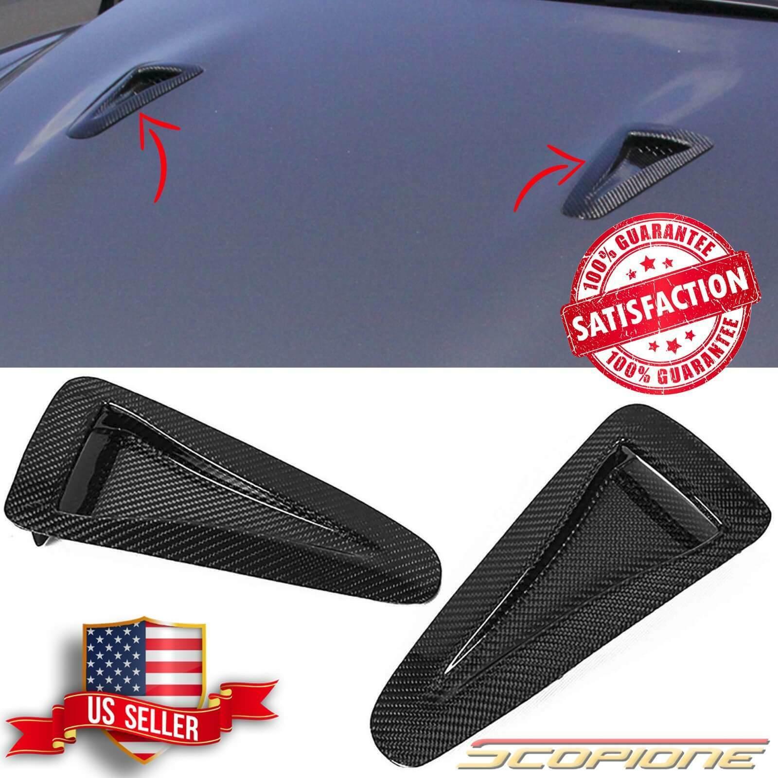 OLIKE for Nissan Skyline GTR35 GT-R R35 Carbon Fiber Hood Bonnet Scoops Vents Hood Air Vent