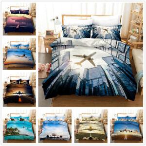 3D-Flying-Airplane-Bedding-Set-Aircraft-Duvet-Cover-Pillowcase-Comforter-Cover