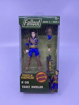 "Fallout Female Vault Dweller Buildable Action Figure 4/"" Series 2 #11 Mega Merge"