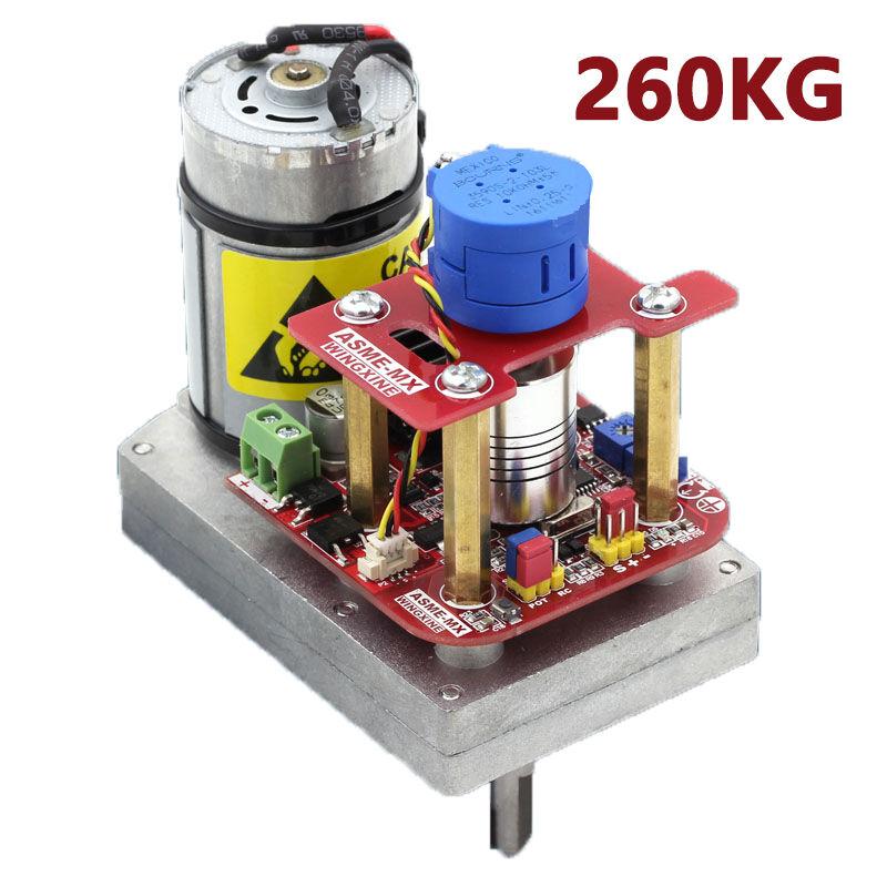 260kg.cm alto esfuerzo de torsión Servo 3600 grados Servo DC12V  24V Para Robot brazo mecánico