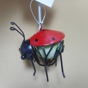 Image Is Loading Glowing Ladybug Outdoor Decor Tree Hanger By Ganz