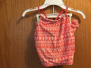 Girls-Pink-Orange-Old-Navy-Tankini-Swimwear-Size-XS-4-5
