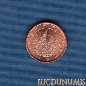 Espagne-2007-1-Centime-D-039-Euro-SUP-SPL-Piece-neuve-de-rouleau-Spain