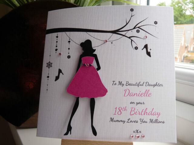 Handmade Personalised Birthday Prom Card Daughter Niece Grandaughter