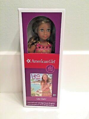 New in Box American Girl of the Year 2016 LEA CLARK Mini Doll w// 2 Book Set