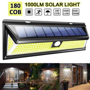 180-LED-Energia-Solar-Luz-De-Pared-Lampara-de-Seguridad-Sensor-De-Movimiento-Infrarrojo-Pasivo