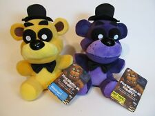 2PCS HOT FNAF Five Nights at Freddys PURPLE Shadow and GOLD Bears Doll Toy
