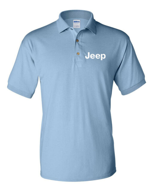 Jeep Cj Car Mens Fit Short Sleeve Polo Shirt Tee