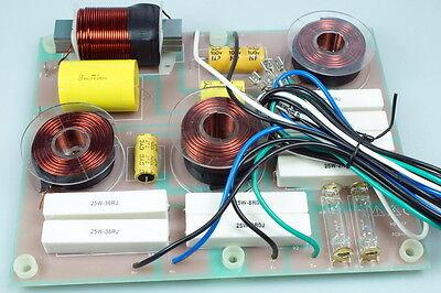 Frequenzweiche 3Wege 700W 8Ohm Weiche Trennfrequenzen 1/3 Khz mit Hochtonschutz