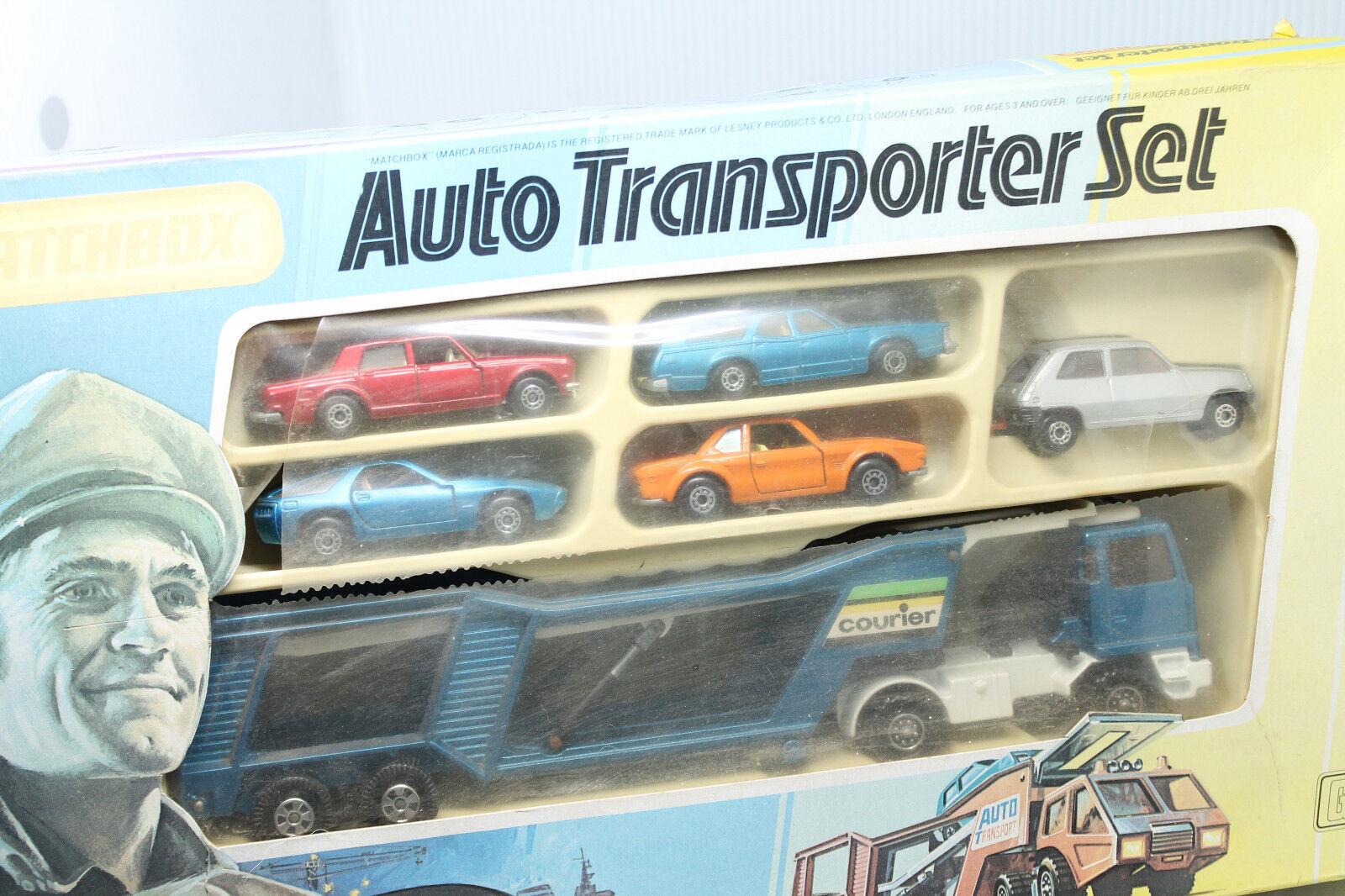 Matchbox Giftset g-1  auto Transporter set  embalaje original  IMPECABLE  Lesney