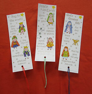 image is loading 15 nativity christmas bookmarks with bible text 3