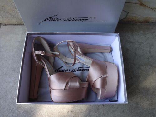 f3427fbd3cf 7 of 12 Brian Atwood Manhattan Nude Satin Skyhigh Open Toe Platform Sandals  EU 41