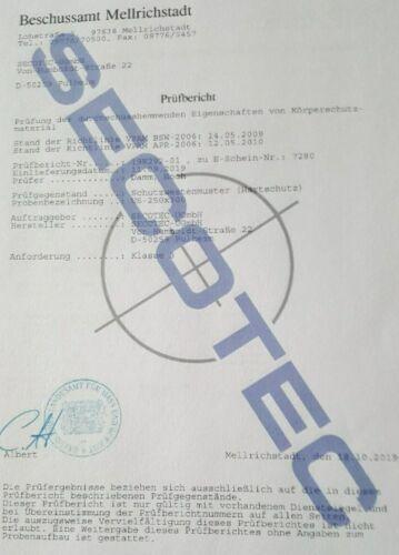 Schußsichere Weste SK-Einlage f SECOTEC® Kugelsichere Weste,Schutzweste 78neu