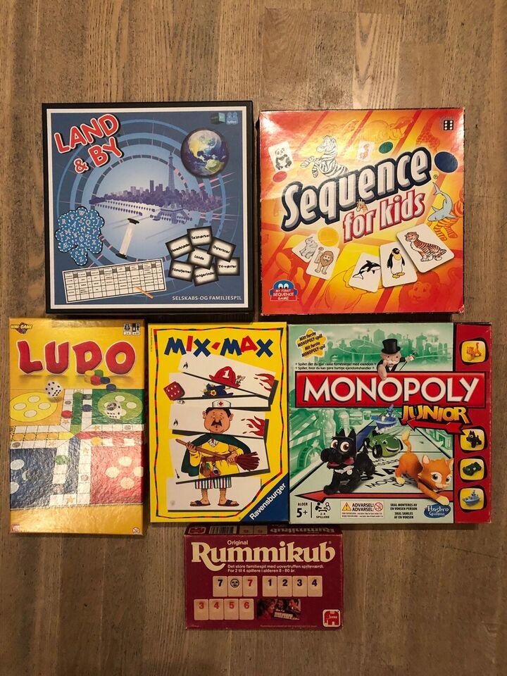 Diverse brætspil 40-175 kr, Strategi, børne og