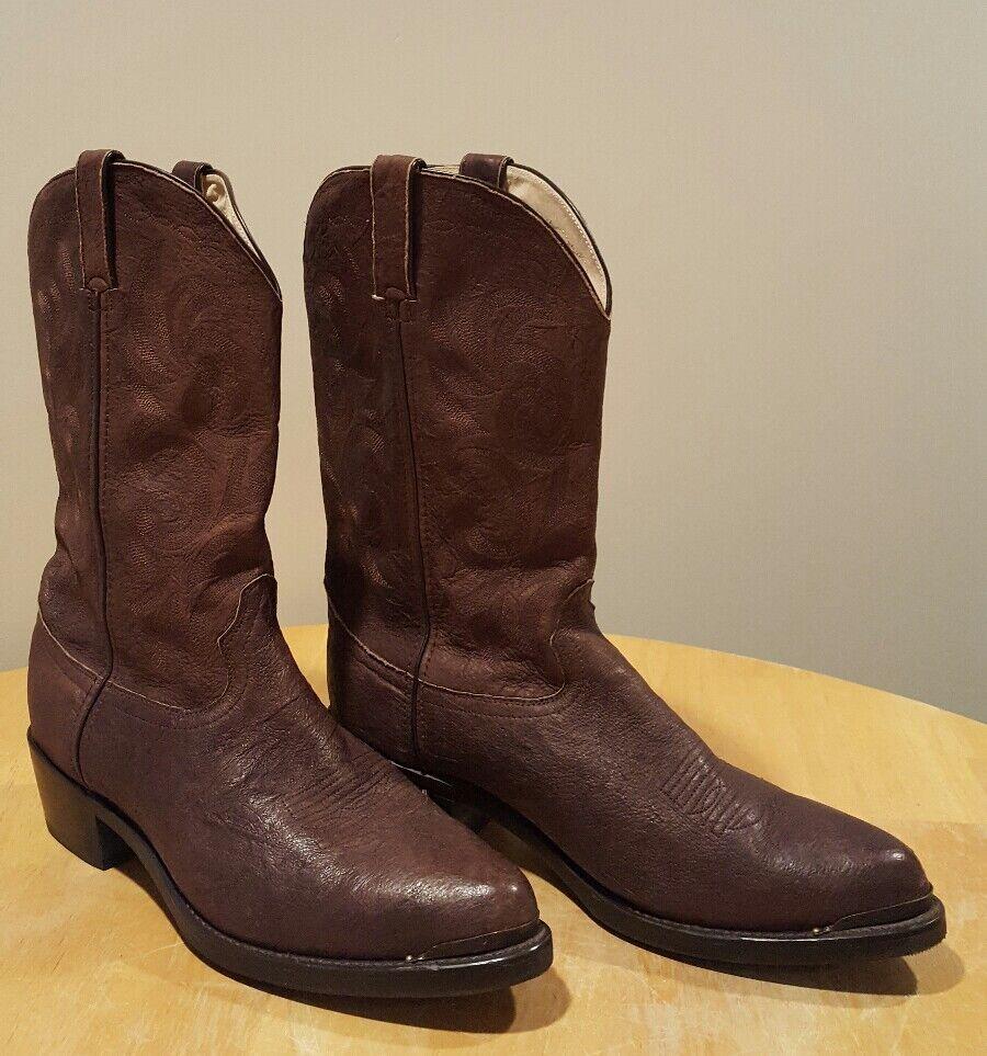 DURANGO Stivali DB312 Chocolate Brown Pelle Pull On Cowboy Western 10.5 EE