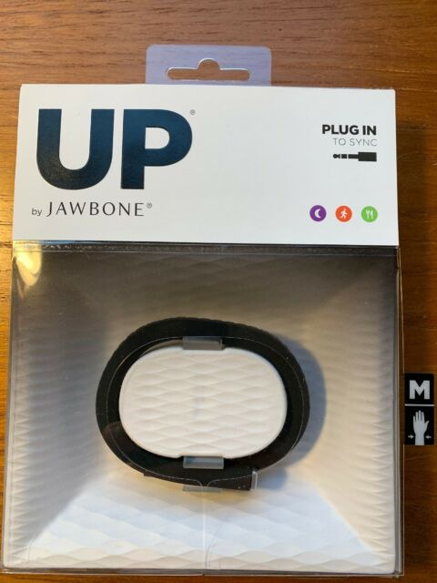 NEW UP by Jawbone Original JBR52b-MD Fitness/Activity Tracker Onyx Black Medium