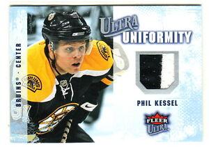2008-09-Fleer-Ultra-UNIFORMITY-GAME-USED-2-color-RELIC-UA-PK-PHIL-KESSEL