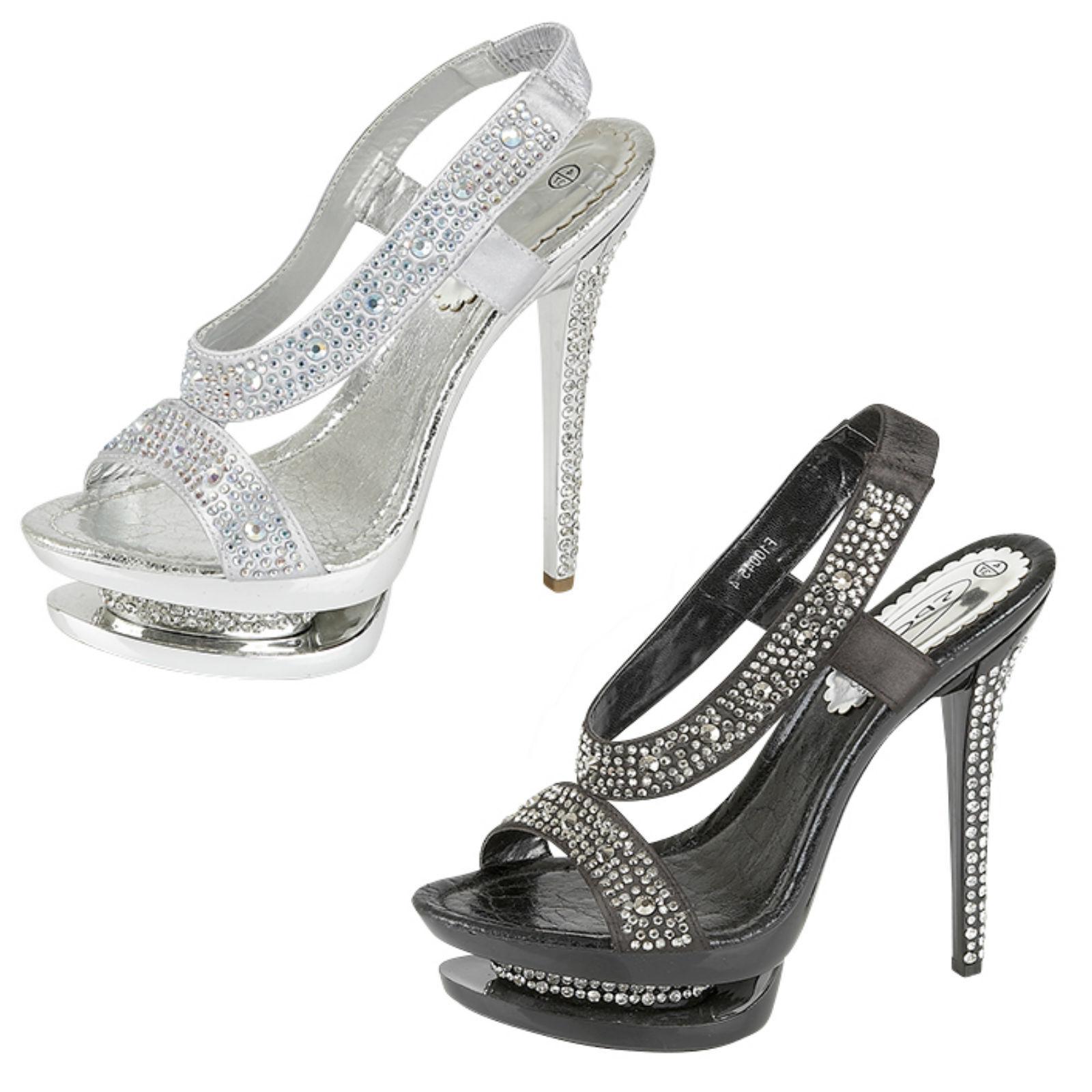 Moda jest prosta i niedroga femmes sur place Bande élastique DIAMANT talon haut sandales plateforme f10045