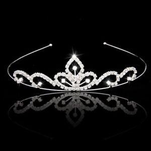 Wedding-Party-Bridal-Tiara-Children-Crown-Headband-Clear-Rhinestone-K1K7
