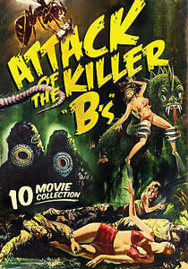 Attack-Of-The-Killer-Bs-10-B-Movie-Pack-3-DVD-DISC-amp-ARTWORK-ONLY-NO-CASE-UNUS
