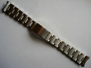 Image Is Loading 20mm Old Style Solid Steel Rivet Oyster Band