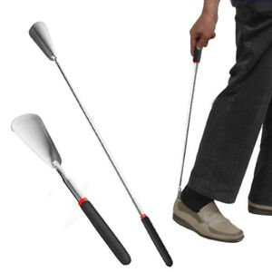 6c57618c283 Image is loading Professional-Long-Handle-Stainless-Steel-Shoehorn-Shoe-Horn -