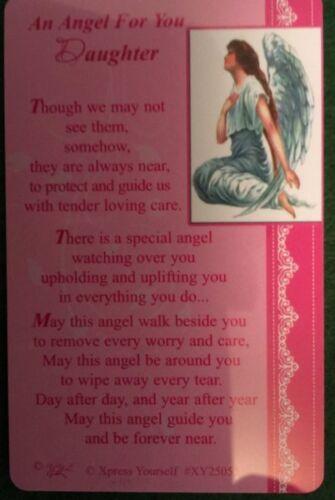 Un ange pour vous fille sac à main portefeuille souvenir verset prière carte gratuit uk p p