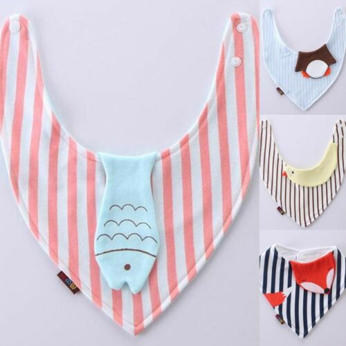 Cute Cartoon Cotton Baby Feeding Bibs Bandana Saliva Towel Infant Scarf Cloth
