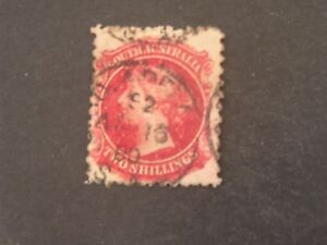 South Australia, Scott # 74, 2/-.value Carmine 1876-84 Qv Issue Used