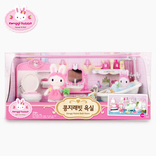 Konggi Rabbit Korean Bathroom Shower Kids Cute Couple Family Baby Doll Toy