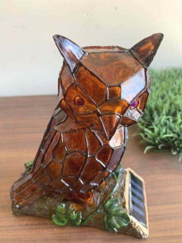LED Light  Solar Power Owl Ornament Lamp Garden Path Lawn Decoration