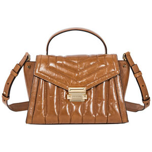 d1f4e92ea82f Image is loading Michael-Kors-Whitney-Medium-Quilted-Leather-Satchel-Acorn-
